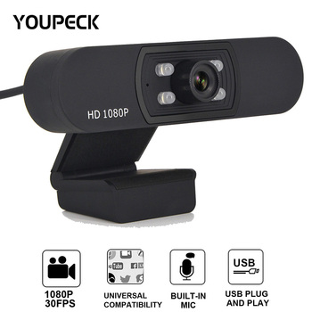 2020 1080p Webcam with Microphone, Fix Focus, Noise Reduction, HD USB Web Camera, for Zoom Meeting YouTube Skype FaceTime Hangou