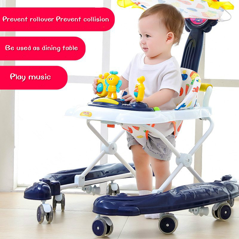 Baby Walker 6/7-18 Months Baby Anti-rollover Children Learning Driving Folding Slides Baby Toys Scooter Walker For Infant