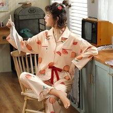Bzel venda quente pijamas femininos conjuntos de pijamas dos desenhos animados ternos de pijamas feminino bonito roupa interior mais tamanho pijamas xxxl