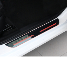 Lsrtw2017 Stainless Steel LED Car Door Sill Threshold Panel Trims for Kia K3 Cerao Interior Mouldings Accessories