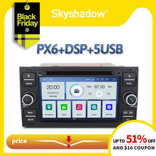 DSP PX6 IPS Android 9.0 64GB + 4GB voiture lecteur DVD GPS carte Radio Bluetooth WIFI pour Ford Galaxy Fusion C-MAX S Focus Mondeo Kuga(China)