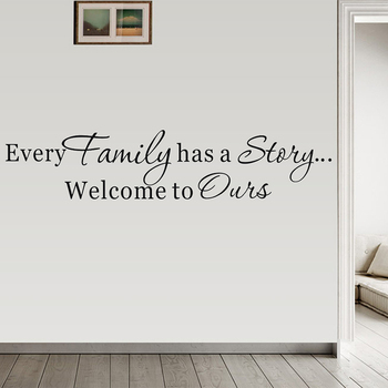 Family Story Art Decal For Living Room Wallpaper Self Adhesive Wall Art Mural Home Goods Home Decor Vinyl Wall Sticker Removable image