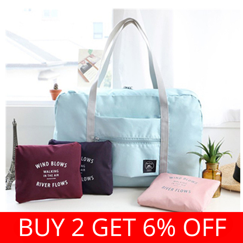 2019 Hot Sale Large Casual Waterproof Travel Bags Clothes Barrel Shoulder Bag Foldable Handbag Duffle Bag Travel Bags