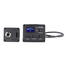 Ukulele Ukelele Uke Piezo Pickup Preamp 3-Band EQ Equalizer Tuner System with LCD Display(China)