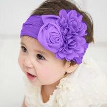 2020 nova flor 1-3y quente recém-nascido sólido bebê turbante pano bonito simples headwrap boêmio nó de cabelo do bebê ampla festa bandana