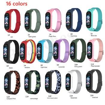 Nylon strap For Xiaomi MI Band 6 5 4 3 Elastic Replacement Bracelet Sport Wristband mi Band 4 3 Smart Watch Accessories Loop 2