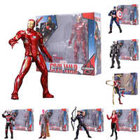 17cm Iron Man Captain America Winter Soldier Ant-Man Falcon Scarlet Witch Vision Hawkeye Action Figure Model Toys with Box