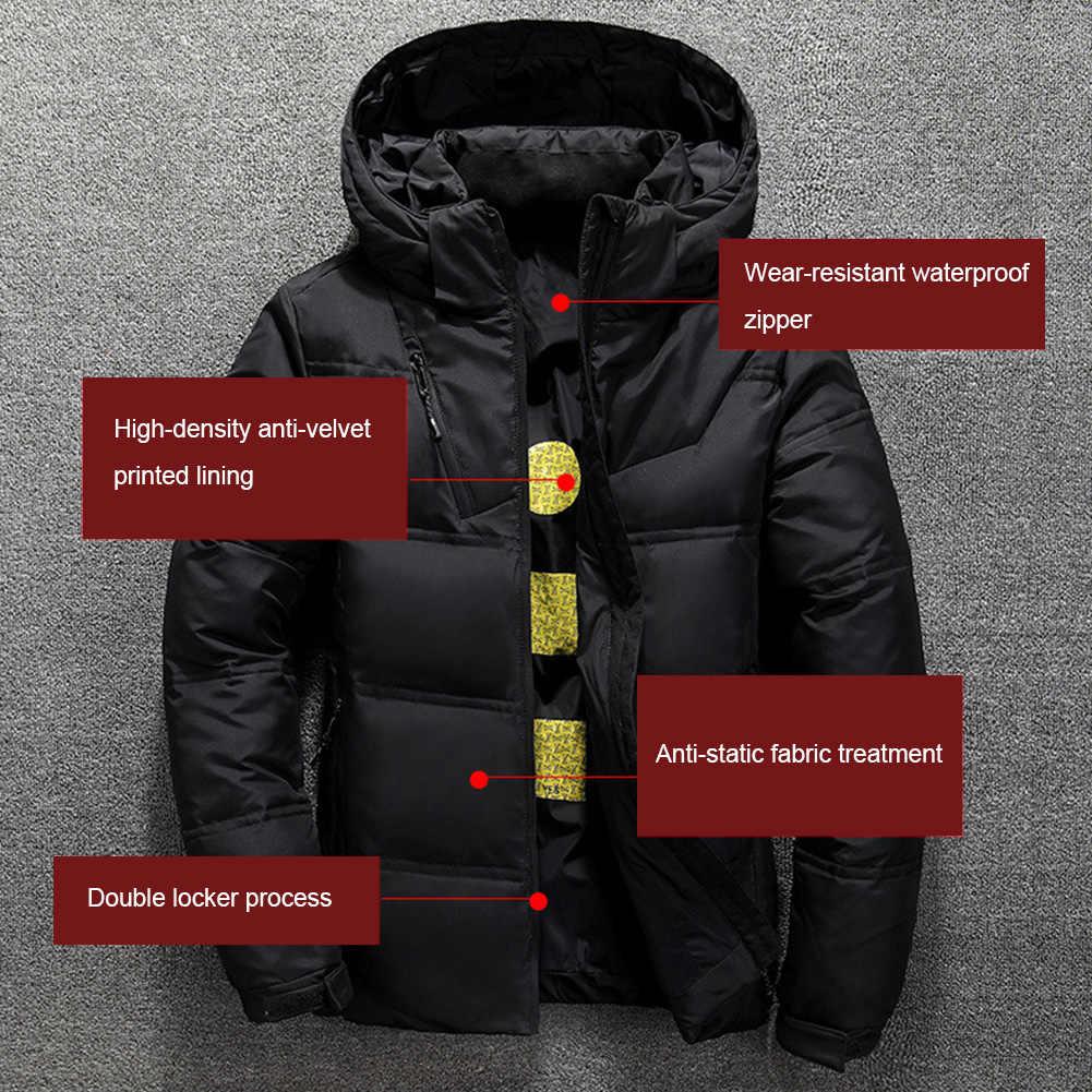 다운 재킷 남자의 고품질 따뜻한 캐주얼 두꺼운 코트 파카 남자의 슬림 따뜻한 외부 재킷 크리스마스 선물 남자의 겨울 잭