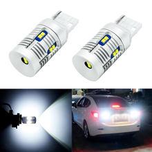 T20 w21w 7440 lâmpada led branco livre de erros canbus para backup luz reversa resistor embutido 12-leds 6000k 2000lm extremamente brilhante