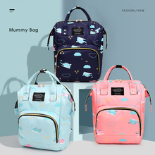 2020 Large capacity Mummy Maternity Travel Backpacks Catoon Print Stylish Baby Diaper Shoulder Bags Daily Casual Waterproof bags