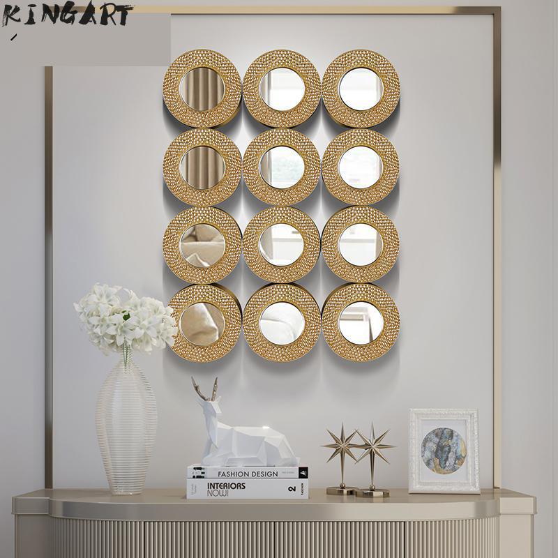 100cm grand miroir mural Simple décor à la maison grand miroir mural chambre salon mur décoratif tenture murale Art miroir