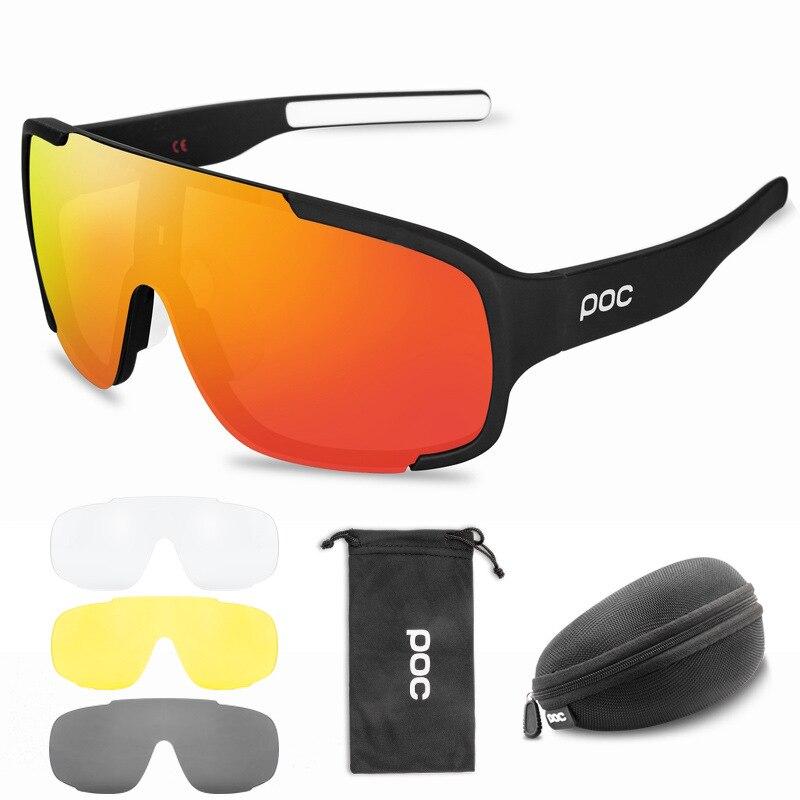 POC-gafas de sol polarizadas para ciclismo, lentes para deportes al aire libre, para bicicleta de montaña, TR90, 4 lentes