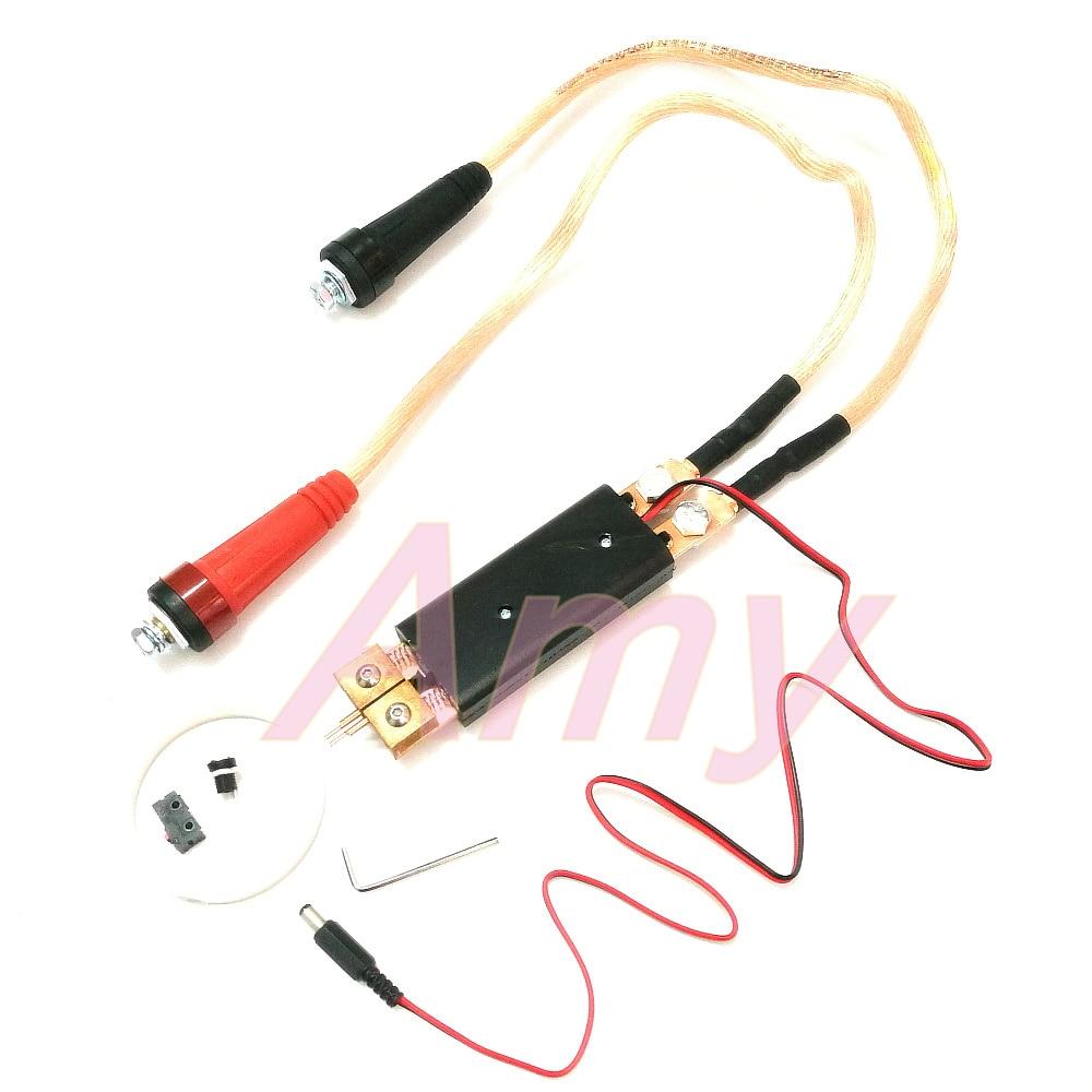 25 Square Quick Plug DIY Spot Welding Machine Welding 18650 Automatic Trigger Pen Hand-held Spot Welding Pen With Adjustment