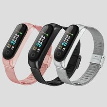 For Xiaomi Mi Band 4 Replacement Sports Metal Buckle Wrist Strap Smart Wristband Bracelet Two-Color