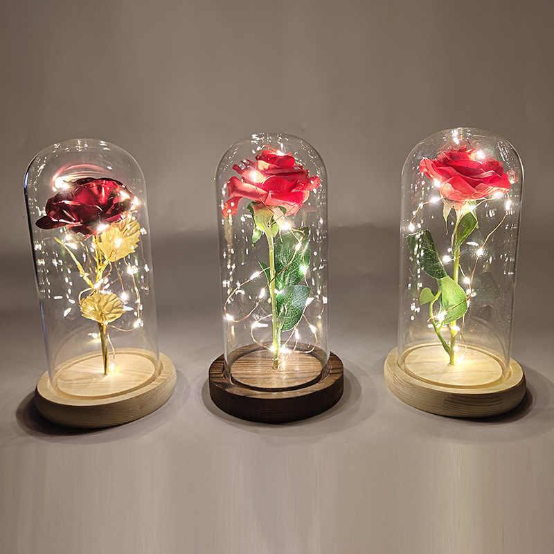 Beauty And The Beast Rose Buatan Bunga Mawar untuk Pernikahan Natal Dekorasi Rumah, fake Roses Valentine 'S Day (Hari Valentine Hadiah