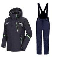 Winter Men's Ski Suit Thicken Winter Sport Suit Ski Jacket Men Mountain Skiing Jackets Men's Snowboarding Jacket Snowboard Pants