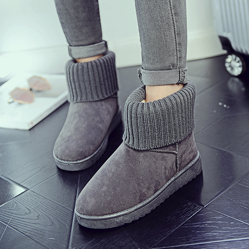 Women's new snow boots winter fashion wild classic women's shoes simple warm non-slip waterproof wool shoes ladies ankle boots 81