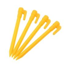Herramientas de Camping para exteriores, carpa de plástico con clavos, estacas para suelo de arena, toldo para tienda de campaña, accesorios amarillos, 2020, 4/8 Uds.
