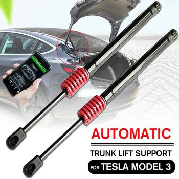 2 sztuk z przodu silnika tylna klapa tylna bagażnika klapa tylna Boot sprężyna gazowa Shock Lift Struts wsparcie dla Tesla Model 3 2017 2018 2019 2020 tanie i dobre opinie Other Stainless Steel Rear