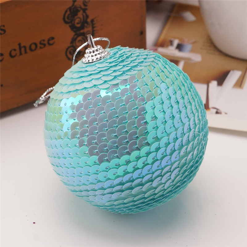 Christmas Rhinestone Glitter Baubles Ball Xmas Tree Ornament Decoration 8CM kerstballen bombki choinkowe #3O11 (4)