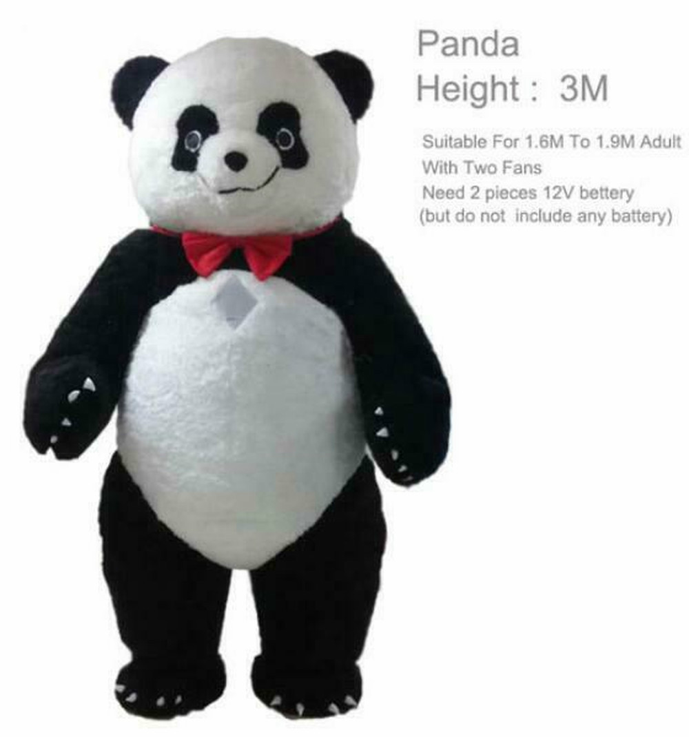 New Inflatable Panda Bear Mascot Costume Suits Cosplay Party Game Dress Outfits Clothing Advertising Carnival Christmas Easter