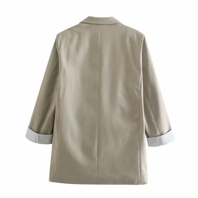 Toppies Summer Thin Linen Blazer Jacket Woman Leisure Suit Jacket Open Stitch Loose Jacket 2
