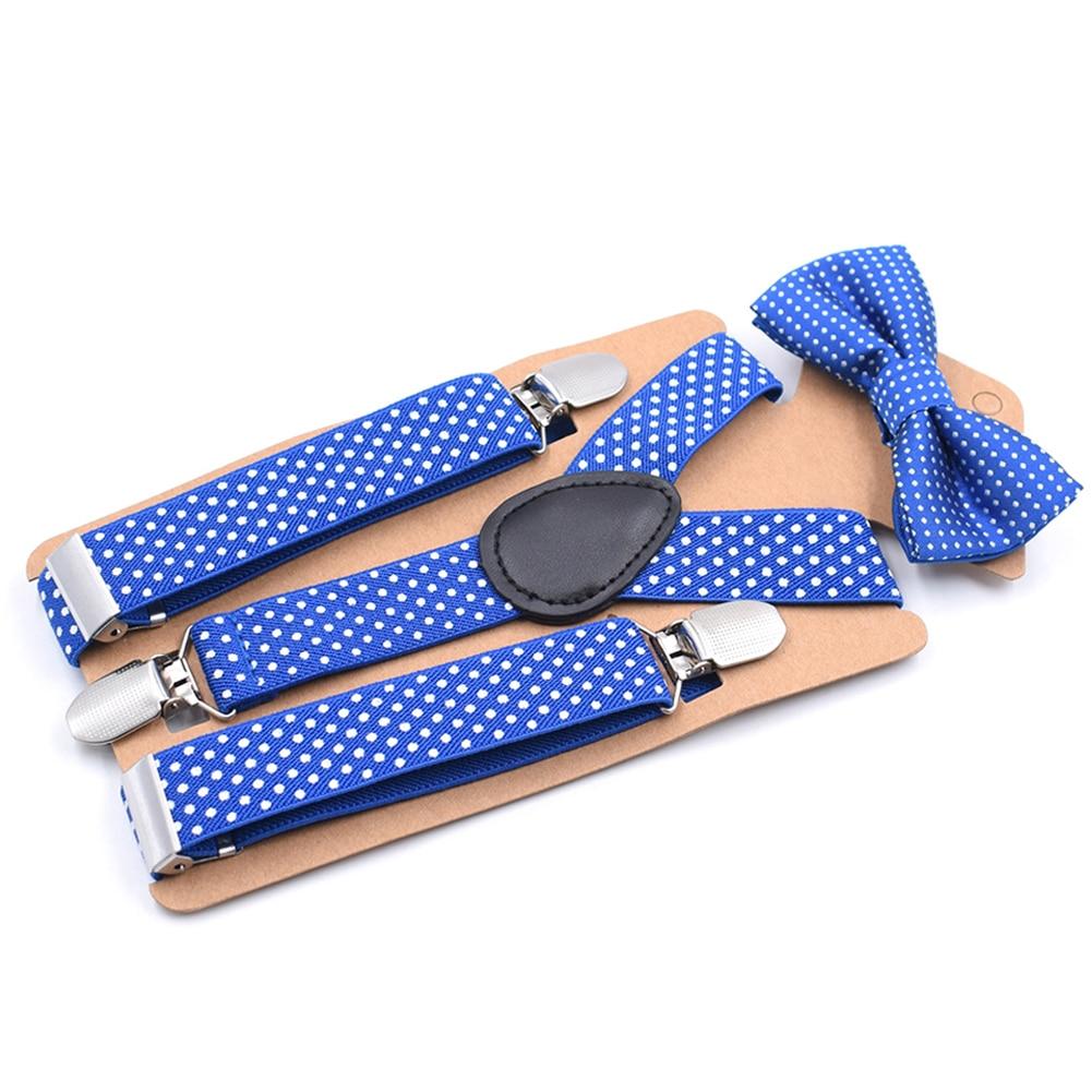 Suspender Clip Bow Tie Causal Baby Girl Cute Dot Body Suit Children Party Toddler Boy Fashion Kids Set