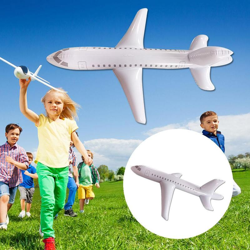 1m/2m/3m Inflatable Airplane Toy Cartoon Long Inflatable Plane Model Display Toy PVC Inflatable Airplane Model Party Decoration image