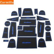 Carmilla Car Gate Slot Mat for Ford Ecosport 2018 2019 2020 Anti slip Door Pad Rubber Cup Groove Mat Auto Interior Accessories