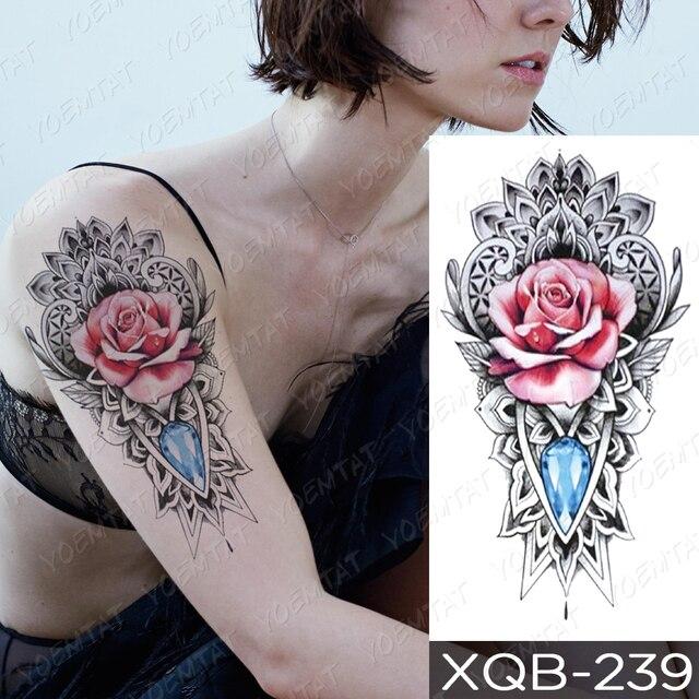 Waterproof Temporary Tattoo Sticker I Love You Flash Tattoos Lip Print Butterfly Flowers Body Art Arm Fake Sleeve Tatoo Women 5