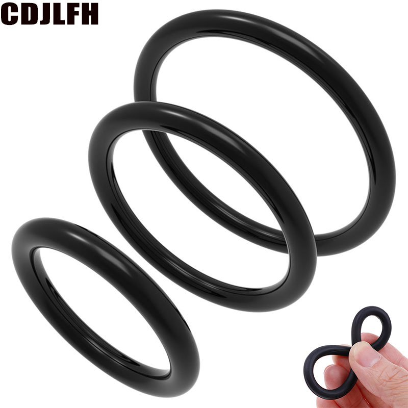 3Pcs Erotic Accessorie Bdsm Bondage Strap On Cock Ring Penis Ring Cockring Extended Ejaculation Adult Sex Toys For Men Sex Shop
