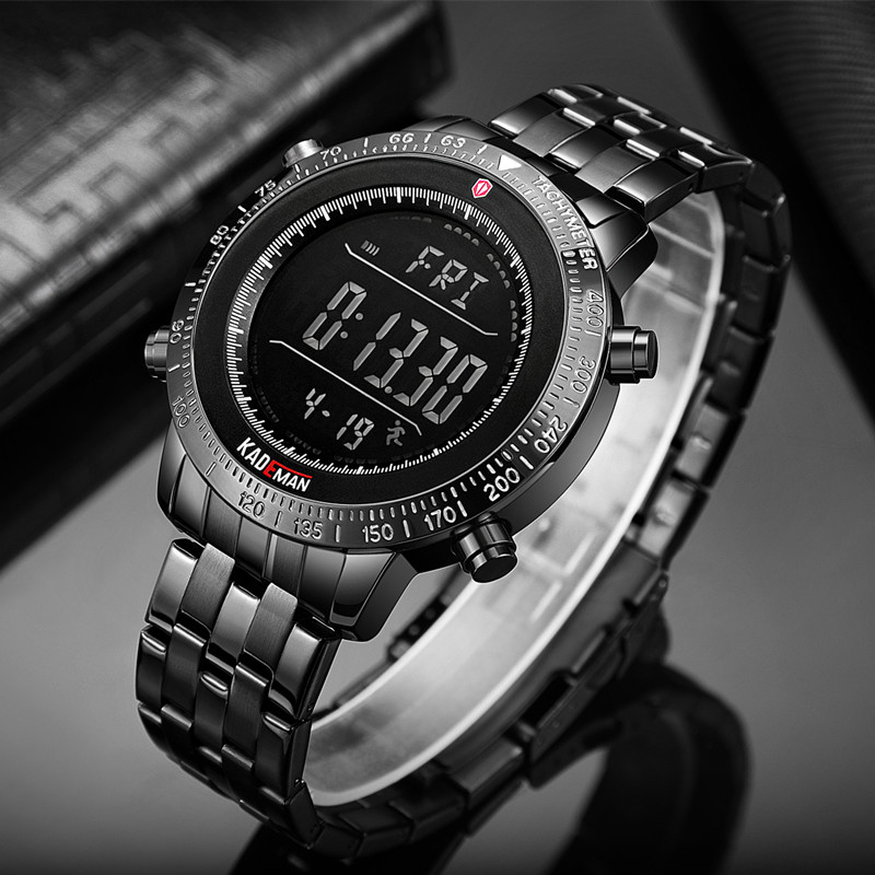 Image 5 - KADEMAN Fashion Step Men Watches Military Sport Watch Luxury TOP Brand Chronograph Wristwatch Casual Male Outdoor Clocks RelogioDigital Watches   -