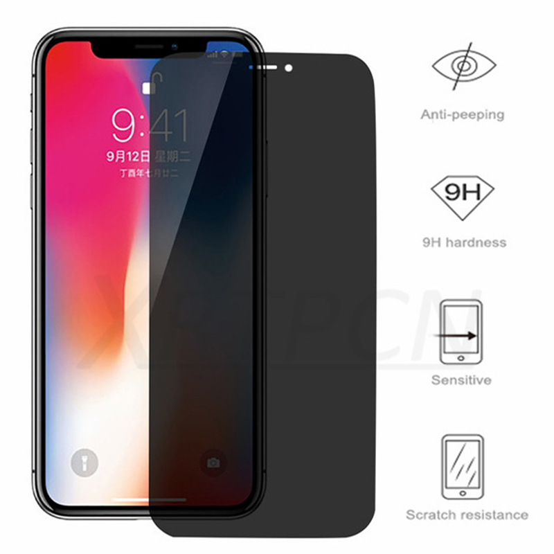 Private Screen Protector For <font><b>iPhone</b></font> 11 Pro XS MAX XR 5S SE Antispy Tempered Glass For <font><b>iPhone</b></font> <font><b>6</b></font> 6s 7 8 Plus X Privacy Glass <font><b>Film</b></font> image