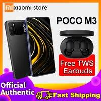 Xiaomi-Smartphone POCO M3 4 + 128,POCO M3,Redmi,mi, teléfono móvil, pocoM3, teléfono móvil, teléfono móvil, poco M 3