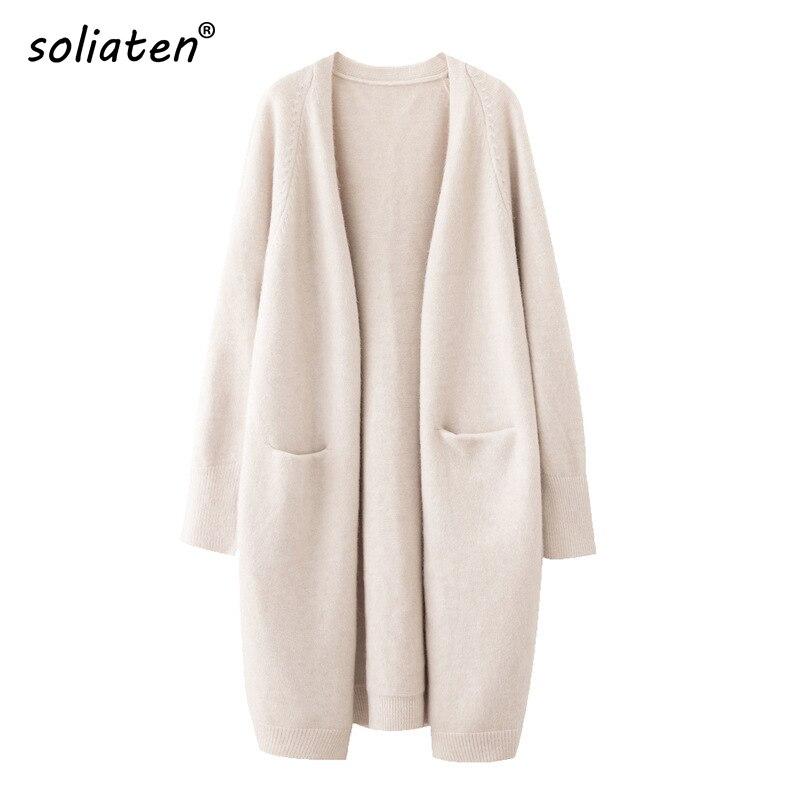 2021 Lazy V-neck Oversize Long Sweater Cardigans Jacket Coat New Women Sweater Korea Cardigan Jacket Coat Outwear TOP C-124