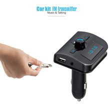 Newest XK-760 Bluetooth MP3 Player Bluetooth Handsfree Car Kit FM Transmitter Dual USB Charger for Phones Car-styling Hot(China)