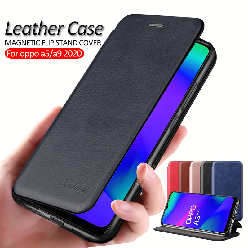 luxury leather Flip Magnetic <font><b>case</b></font> For <font><b>oppo</b></font> <font><b>a5</b></font> a9 2020 a 9 5 a92020 a52020 stand book phone <font><b>Wallet</b></font> Cover coque <font><b>cases</b></font> fundas shell image