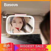Baseus 8.3 Inch Car Sun Visor Mirror Auto Cosmetic Makeup Mirror Sun-shading Mirrors With LED Chargable Light