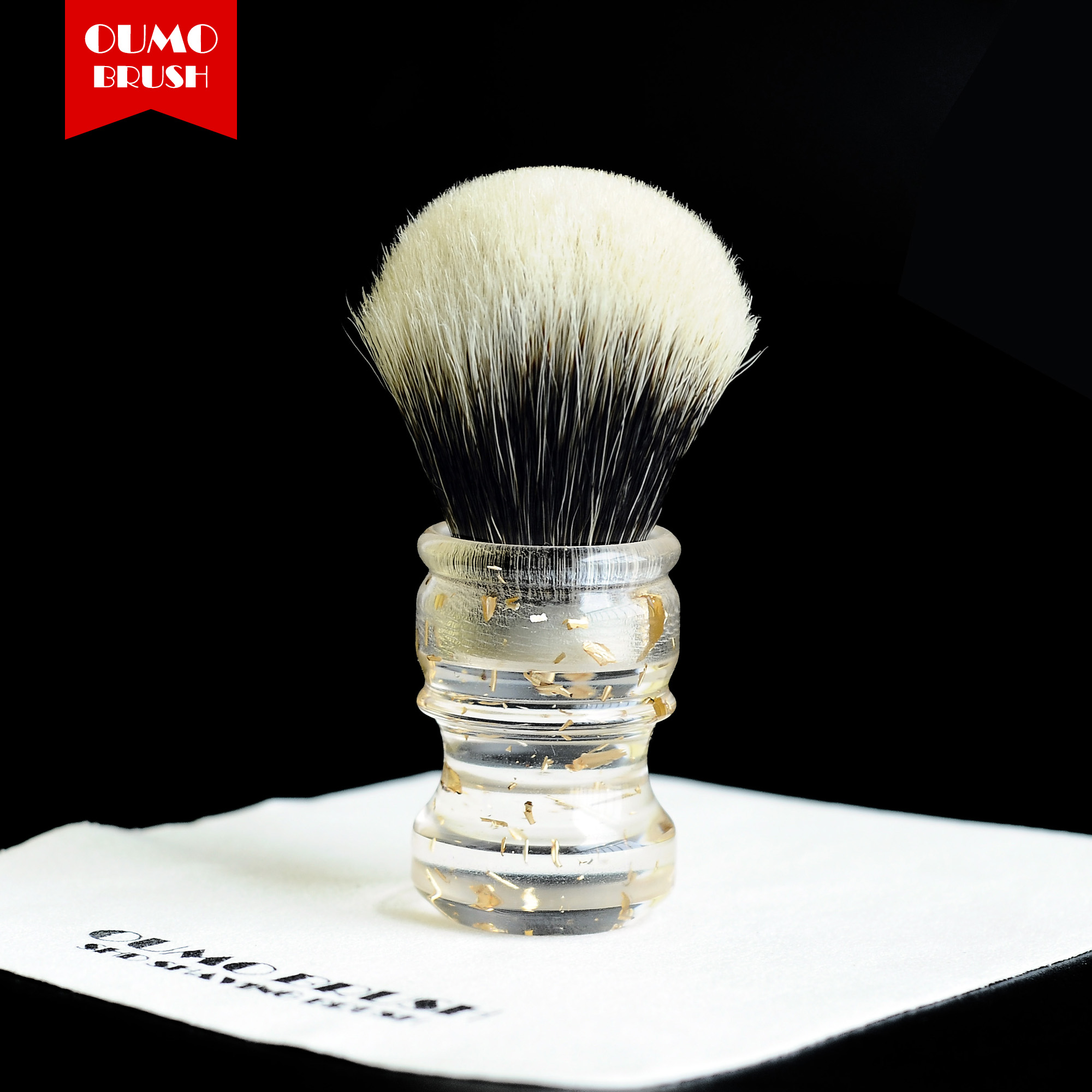 Image 3 - OUMO BRUSH  2019/8/1 CHUBBY  Art shaving brush with SHD bulb Manchuria badger knot gel city 26MM-in Shaving Brush from Beauty & Health