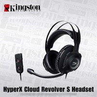 Gamer Earphone HyperX Headphone Cloud Revolver S Gaming Headset Wired For PC PS4 PRO Xbox One Headphone