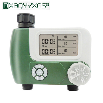 New Garden drip irrigation system controller Double Outlets Digital  Irrigation timer Programmable Hose Faucet Watering Timer