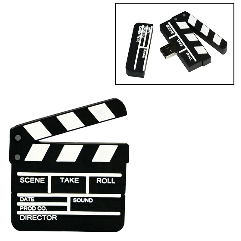 Creative Usb Flash Drive Movie Clapper Board Pendrive 128GB Flash Memory Card 64GB Pen Drive 32GB Usb Stick 4GB 8GB Flash Drive