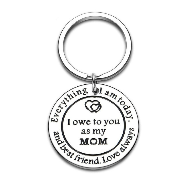 Thank You Keychains Mother's Day Key Chain Mom Gift  for Birthday Wedding Appreciate for Mother Mama Stepmother from Daughter 6