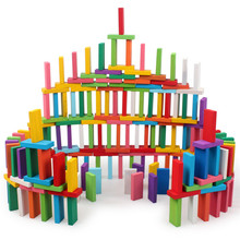 100/120/240 PCS Wooden Colorful Rainbow Domino Blocks Building Toy Early Educational Toys For Children Kids Dominoes Games Gifts 120 dominoes in 12 colors contains a set of 10 domino accessories kids wooden domino building blocks toys classic montessori toy
