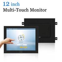12 inch Wall Hanging Capacitive Touch Screen Monitor Industrial USB HDMI VGA LCD Monitor