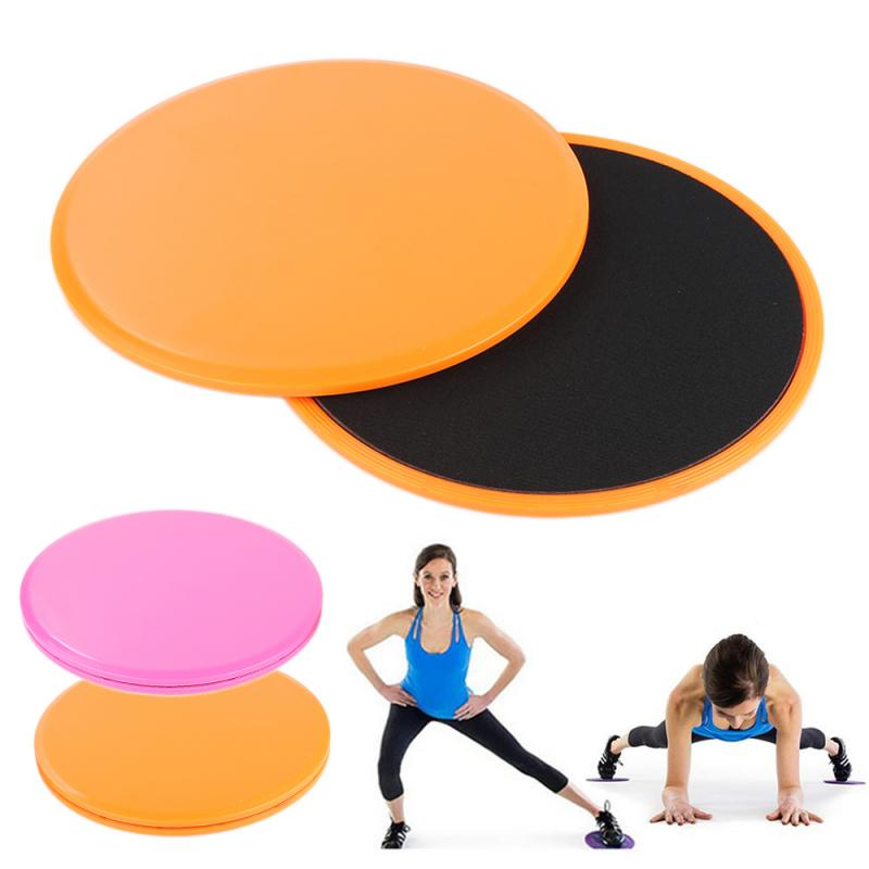 2PCS Fitness Gliders Slider Gliding Discs Abdominal Round Triangle Disc Workout Gym Body Exercise Training Slimming Slide Pad