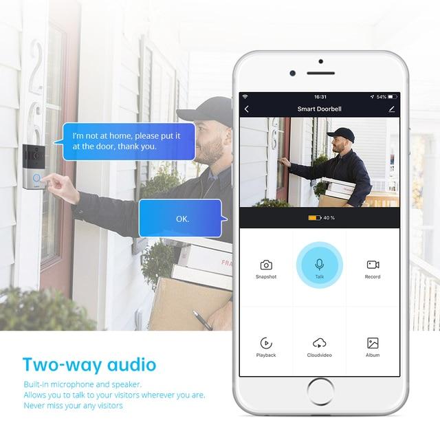 KERUI 1080P Tuya Smart WiFi Doorbell 2MP Camera Outdoor Wireless Video Intercom Smart Life Home Security Door Bell Chime 2