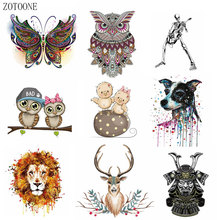 ZOTOONE Cute cartoon lion bird patch heat transfer iron A grade washable clothes stickers easy to print home electric