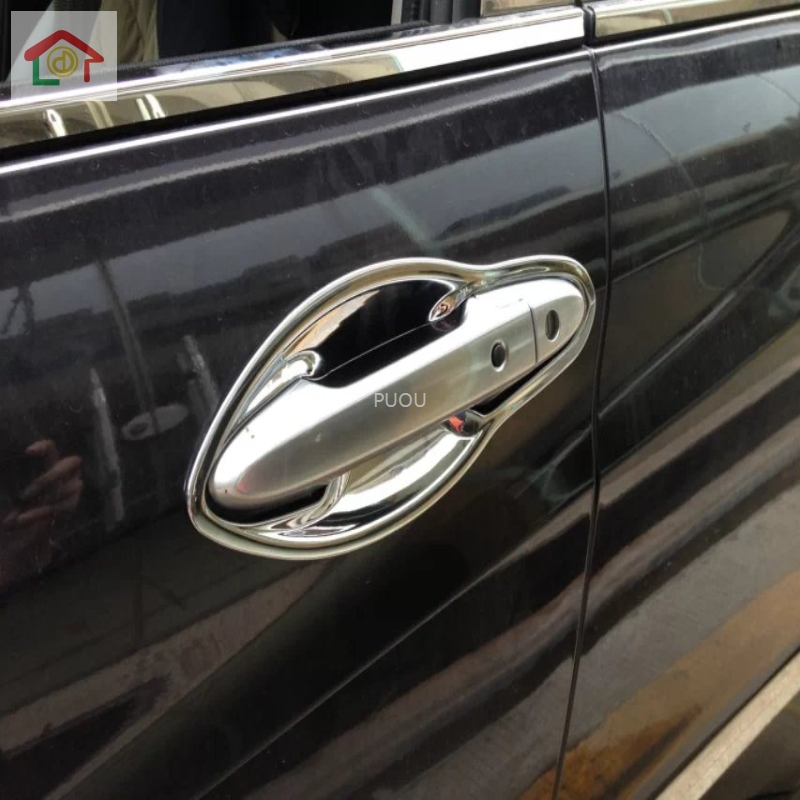 ABS CHROME <font><b>DOOR</b></font> <font><b>HANDLE</b></font> BOWL COVER CUP CAVITY TRIM INSERT OVERLAY BEZEL MOLDING GARNISH FOR <font><b>HONDA</b></font> VEZEL HR-V <font><b>HRV</b></font> 2014 to 2019 image