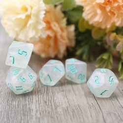 7 шт. полимерные многогранные кубики для DND ролевой игры MTG циферблаты настольные игрушки 7 шт. полимерные кубики Прямая поставка
